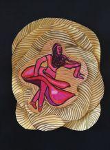 A Woman Spirals in a Vortex